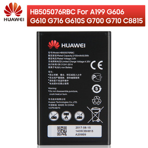 Image 1 - Original Replacement HB505076RBC Battery For Huawei A199 G606 G610 G610S G700 G710 G716  C8815 Y610 Y3 ii Phone Battery 2100mAh
