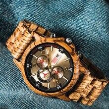 QW спортивные горячие продажи бамбуковые брендовые хронограф пользовательские мужские деревянные спортивные часы