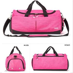 Image 3 - Sports bag Men Gym Bag Women portable Large Capacity Yoga Fitness Training Handbag Bag Striped Sac De Outdoor Sports bag