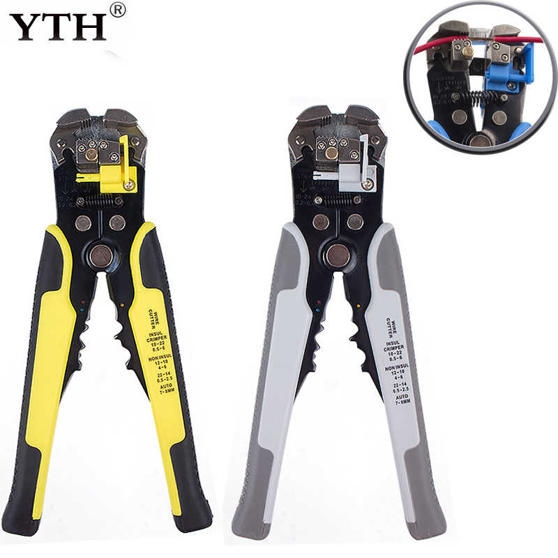 KQ-1301 Auto Crimper Cable Cutter Automatic Wire Stripper Multifunctional Stripping Tools Crimping Pliers Terminal 0.2-6.0mm