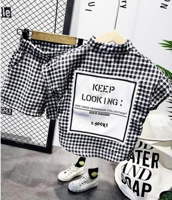Neue Sommer Kinder Kleidung Sets Jungen Kleidung Set Baby Boy Kleidung Streifen Cartoon Kinder T-Shirt + Hosen 2Pcs 2-7years