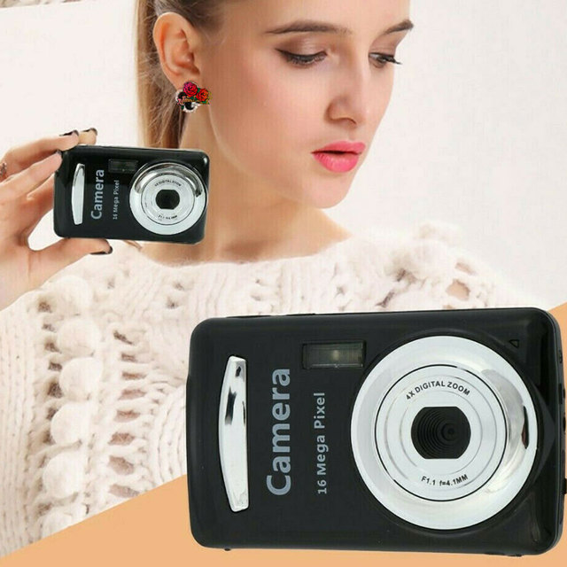 2 4 Inch Practical Black Portable TFT LCD Mini Digital Camera High Definition 16 Megapixels Travel Durable Easy Apply Handheld