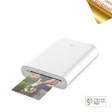 Xiaomi mijia ar impressora 300dpi foto portátil mini bolso com diy share 500mah impressora de imagem bolso trabalho com mijia