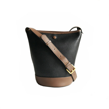 Genuine Leather Women Bag New Style Cowhide Bucket Bag  One Shoulder Crossbody Fashion Casual Leather Women's Bag