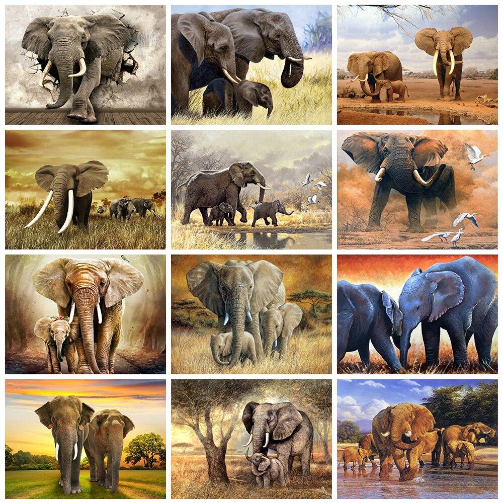 Evershine 5D Алмазная вышивка слон животные Алмазная мозаика вышивка крестиком картина стразы DIY хобби искусство стены