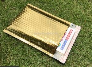 Image 2 - Sobres de correo impermeables con bolsa de burbuja de color púrpura polivinílico, 25 uds., bolsa de regalo de superficie brillante para cumpleaños, 18x23cm + 4cm