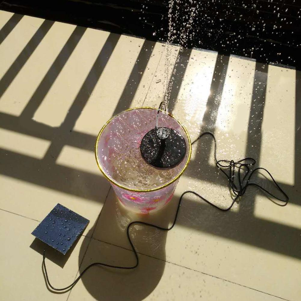 Outdoor Solar Power Water Pump Floating Panel Garden Watering Pool Pond Fountain Bird Bath Floating Water Fountain Pump