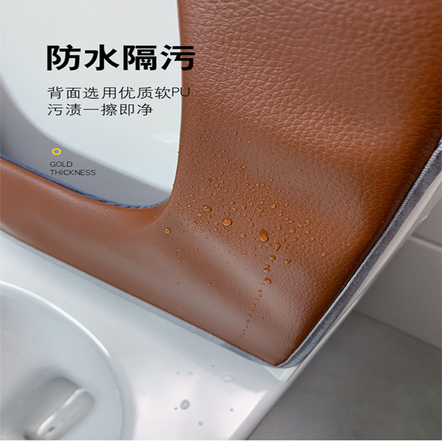 Universal plush Toilet Cushion Household Warm Soft Thicken Toilet Seat Cover Winter Waterproof WC Mat Bathroom Products 6
