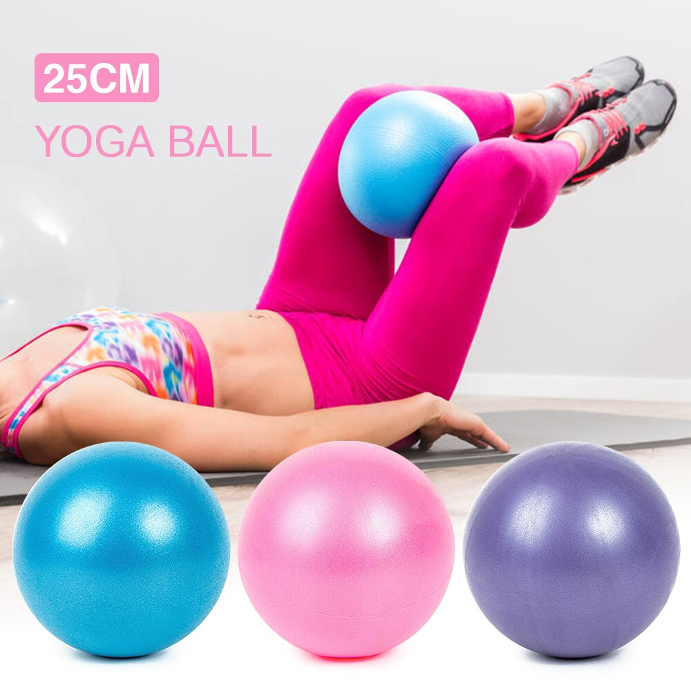 25CM Yoga Ball Exercise Gymnastic Fitness Pilates Ball Balance Exercise Gym Fitness Yoga Core Ball Indoor Training Yoga Ball