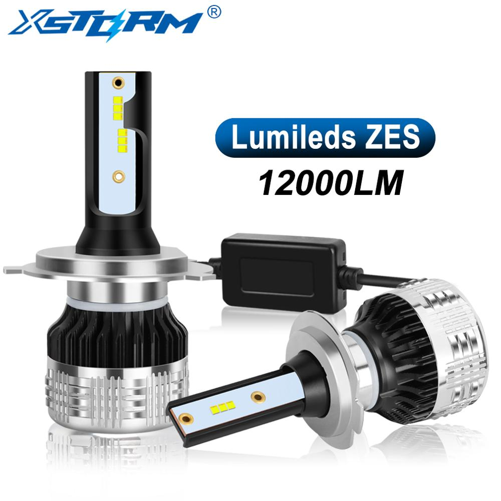 2Pcs H4 H7 LED Canbus With Lumileds ZES Chips Car Headlight Bulbs H1 Led H3 H8 H11 9005 HB3 900 HB4 H27 9012 Auto Lamp 12000LM