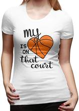 Женский базовый топ my heart is in that court футболки с коротким