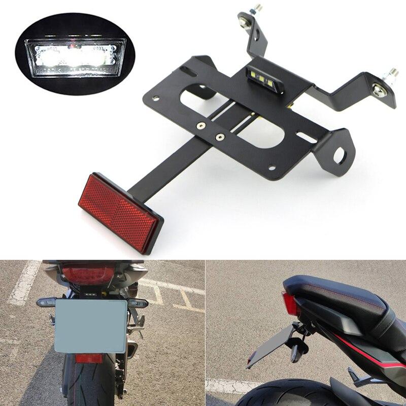 For Honda CB650R CBR650R 2019 2020 License Plate Holder Bracket Rear Tail Tidy Fender Eliminator Kit Aluminum Black 1 SET
