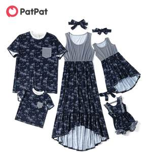Patpat T-Shirt Rompers Dress Coconut-Tank Mom Family Matching Family-Look Baby-Girl Summer