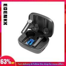 Eoenkk fones de ouvido sem fio com microfone fone de ouvido bluetooth led display de energia digital fone de ouvido gamer 9d stero