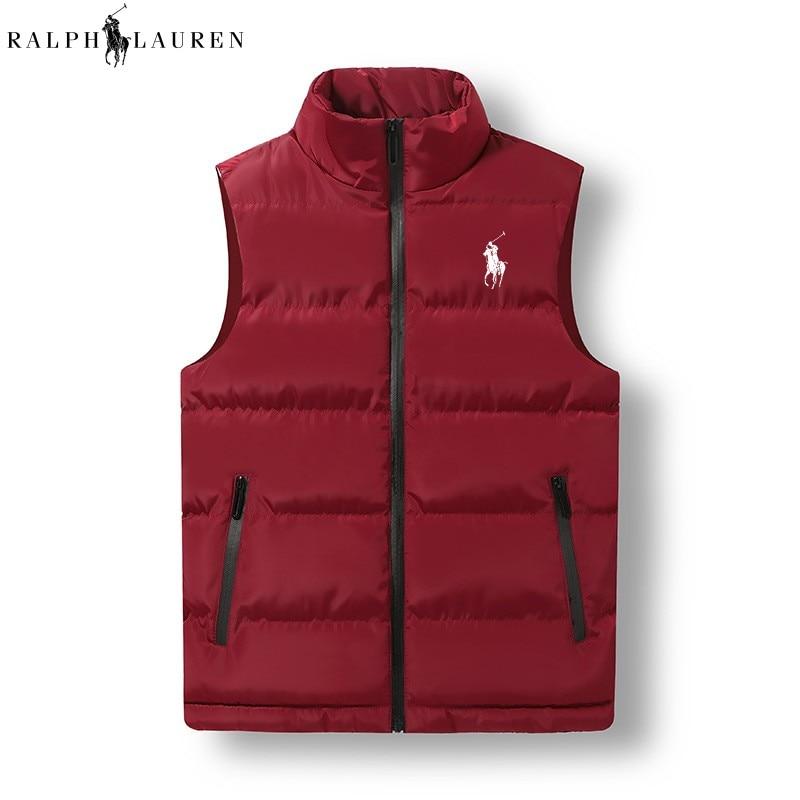 Брендовая одежда RALPH LAUREN, жилет, куртка, новая мужская Осенняя теплая куртка без рукавов, мужской зимний Повседневный жилет, мужской жилет