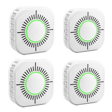 4pcs 433MHz Wireless Smoke Detector Independent Fire Alarm Sensor 360 Degrees Indoor Home Safety Garden Security Smoke Alarm