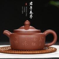 Yixing Ton Teekanne Raw Erz Lila Ton Tee Topf Gentleman Frühling Booth Half handmade Geschenk Anpassung Logo eine Generation von Fett|Teebretter|   -