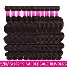 Extensions de cheveux brésiliens Loose wave, Lots de 2 3 4 5 10, prix de gros