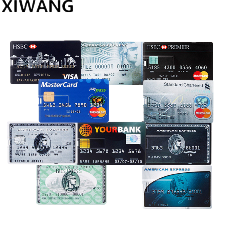 Newest Bank Credit Card U Disk Waterproof Memory Pen Drive 4GB 8GB Pendrive16GB 32GB 64GB USB Flash Drive 128GB Free Custom Logo
