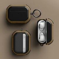 Cover per Airpods pro custodia TPU PC Cover anticaduta per Apple AirPods 3 2 accessori custodia auricolare Wireless con portachiavi