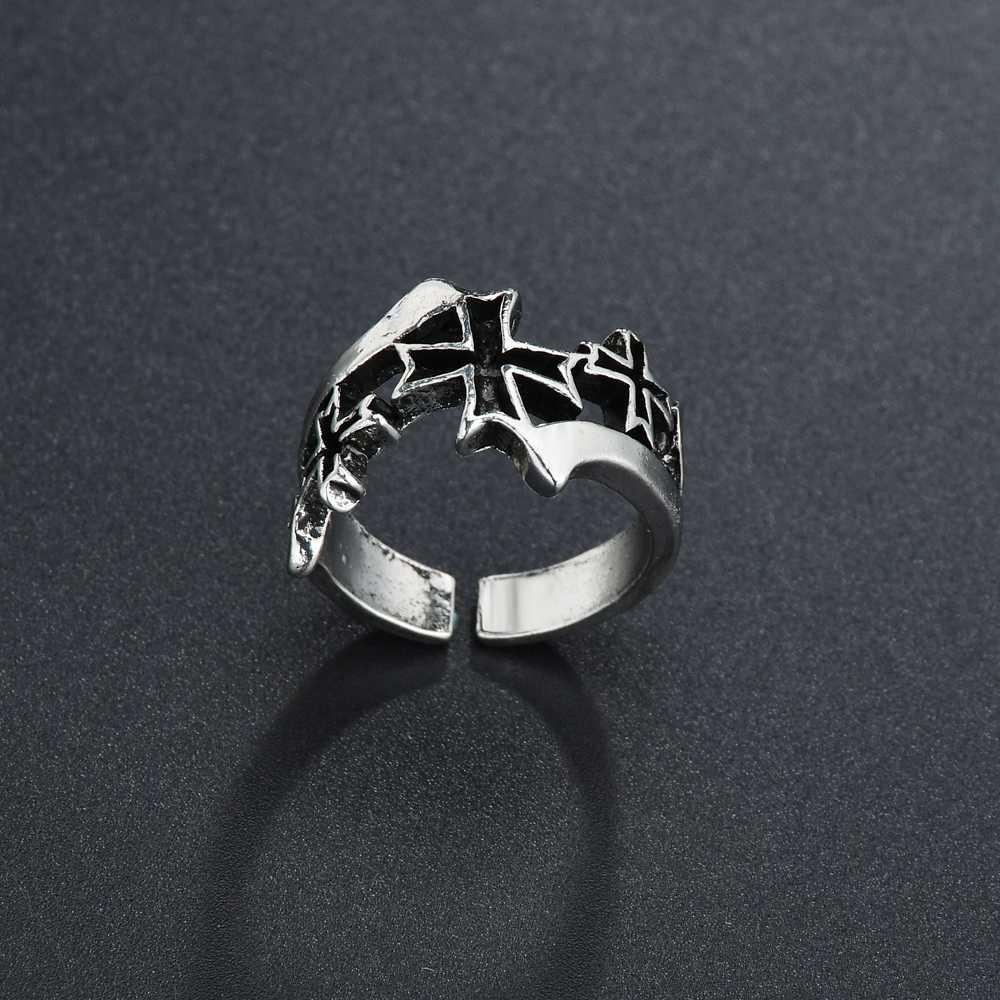 Unisex Fashion Snake Shape Punk Ring Vintage Gothic Silver Plated Rings