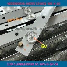 60 قطعة/الوحدة 100% جديد نوعية جيدة LCD TV الخلفية بار ل 400S8606X8 A0035 E34036 40S 4 10 1.00.1.388015 S01R V1 94V O DY 01 14 أو