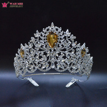 Headwear-Accessories Tiara Hair-Jewelry Pageant Miss-Universe Fashion for Bridal Wedding