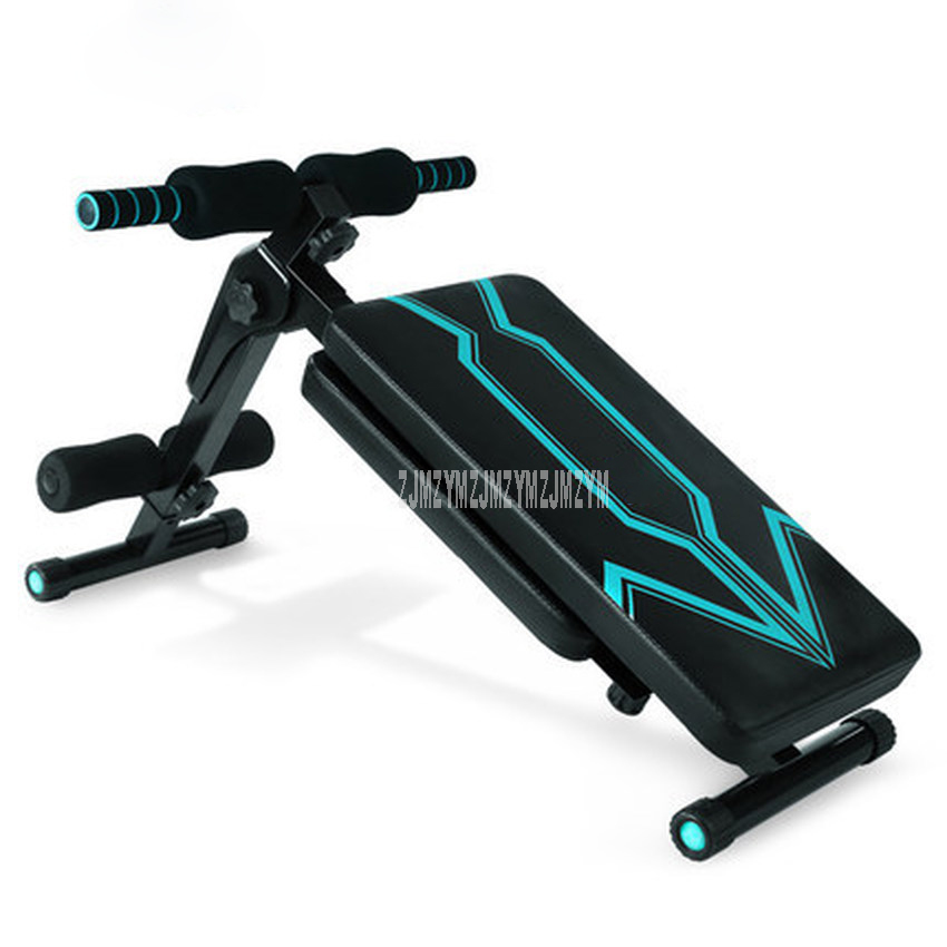 Multifunction Foldable Sit-up Bench Exerciser Trainer Steel Frame Ab Abdominal Fitness Bench Indoor Fitness Equipment Household