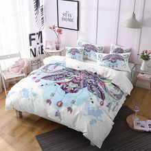 Bedding Set Bohemia Ox Duvet Cover Set 2/3pc Kids Bedding Single Double Queen Home Textiles Retro Brushed Comforter/Quilt Duvet(China)