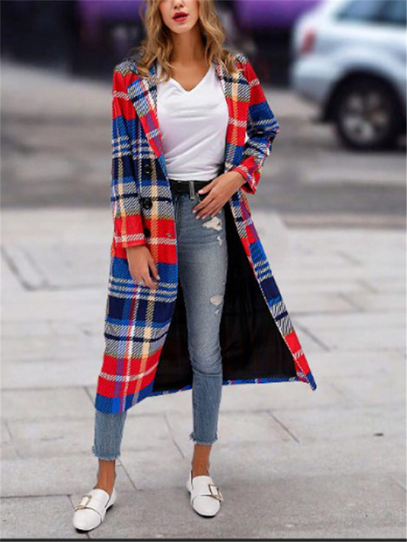 striped plaid lapels printed jackets
