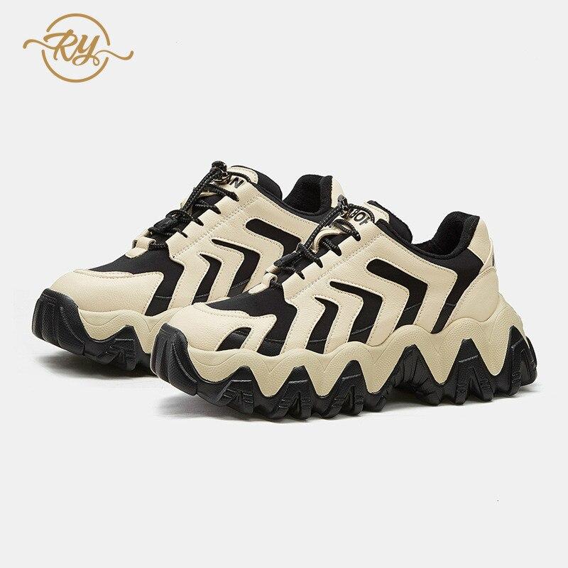RY rella2019 automne et hiver nouvelles chaussures fumées intelligentes Hong Kong style chaussures décontractées femmes rue coup fond épais chaussures décontractées - 3