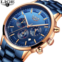 LIGE Fashion Clock Mens Watches Top Brand Luxury Casual Quartz Watch Men Business Stainless Steel Waterproof Sport Chronograph lige fashion clock mens watches top brand luxury casual quartz watch men business stainless steel waterproof sport chronograph