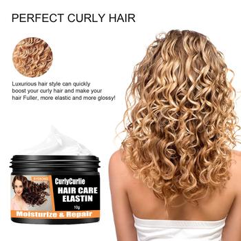 Afro-curly krem do stylizacji włosów nawilżający krem do stylizacji włosów elastyna krem do pielęgnacji włosów trwały odżywczy produkty do stylizacji narzędzie do włosów tanie i dobre opinie CN (pochodzenie) Hair Styling Cream Pomady i woski Wholesale Dropshipping 10g 20g 30g 50g optional 1*elastin