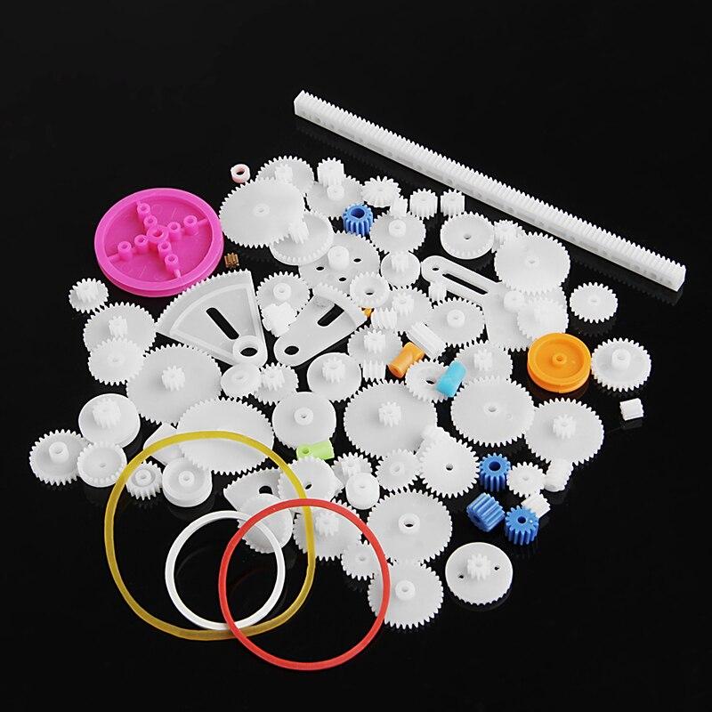 1 Set Hot 85pcs Plastic Gear Rack Pulley Belt Worm Gear Single Double Gear Teeth