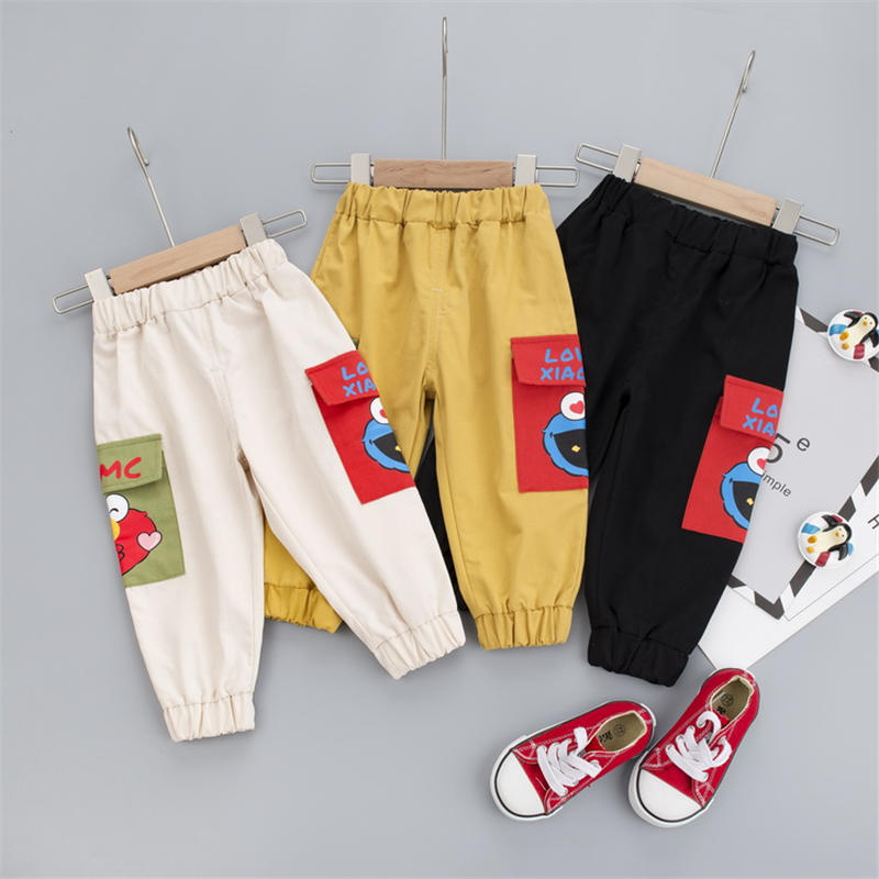 Casual Baby Kids Boys Girls Long Trousers Cotton Autumn Sport Toddler Children's Cartoon Causal Pants Clothing 1 2 3 4 Years