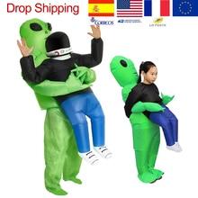 ET الأجانب نفخ زي مخيف الوحش تأثيري للكبار الاطفال الشكر عيد الميلاد مهرجان الحفلات مرحلة الأطفال الملابس
