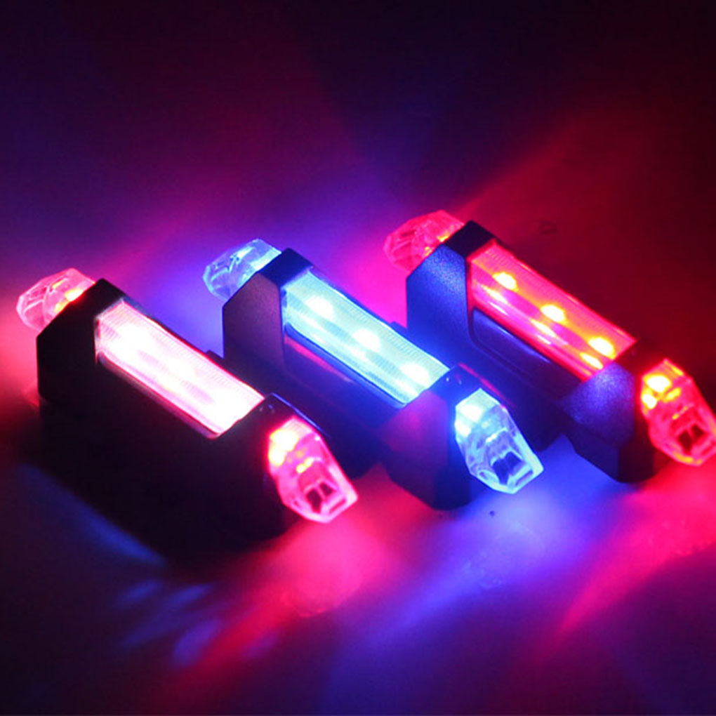 Bike Bicycle Light LED Taillight USB Rechargeable Rear Tail Safety Warning Cycling Light Portable Flash Light Super Bright