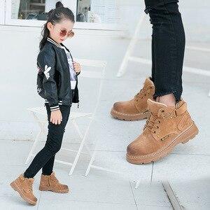 Image 4 - 子供の冬のブーツ 2019 本革子供スニーカー幼児少女の冬靴のファッション豪華な暖かいマーティンブーツ