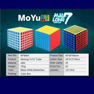 Image 2 - Moyu meilong 7x7x7 cubo mágico 7x7 quebra cabeça cubo mágico brinquedos educativos competição cubos velocidade cubo
