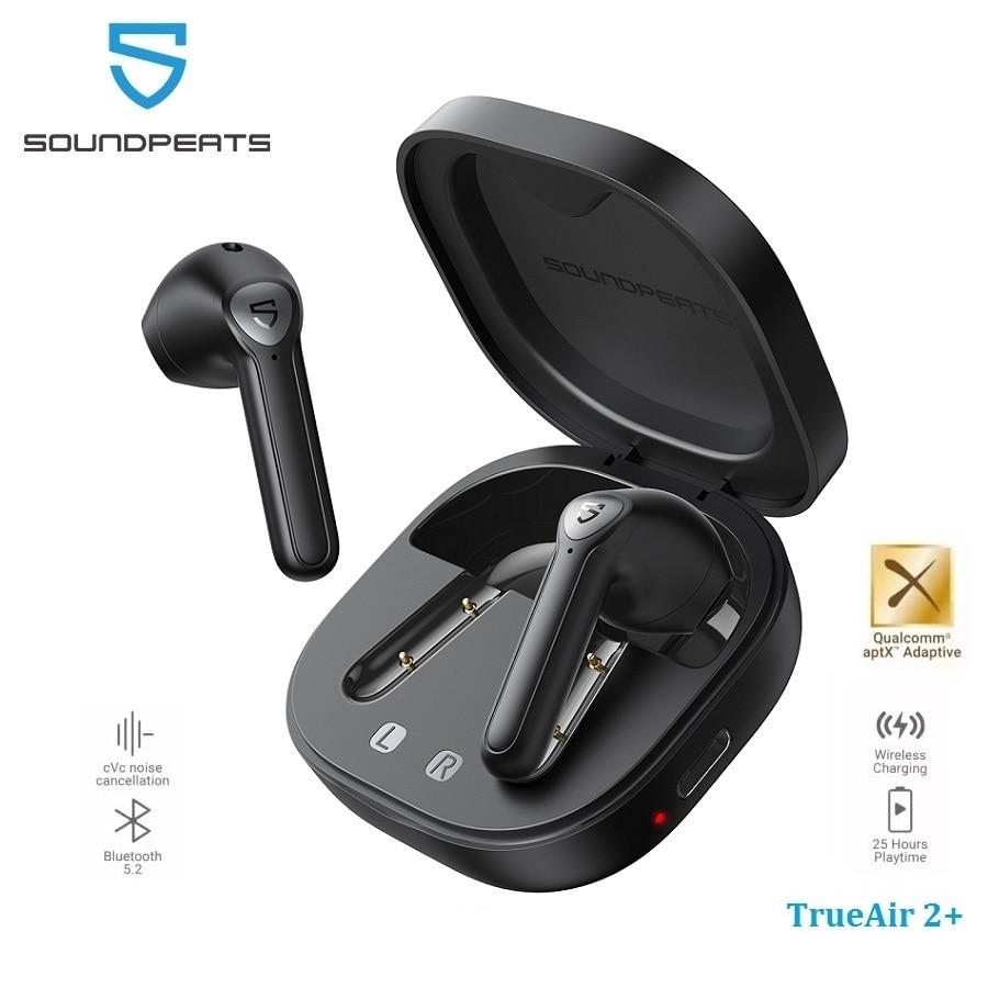 Беспроводные наушники SOUNDPEATS TrueAir2 +, QCC3040 aptX, Bluetooth V5.2, 4 микрофона, CVC 8,0, шумоподавление, игровой режим