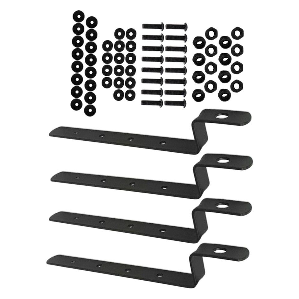 KIMISS 2Pcs Alforjas para motocicleta Soportes de montaje Barras de soporte Soportes de montaje para XL883//1200 HD1450//1584 Black