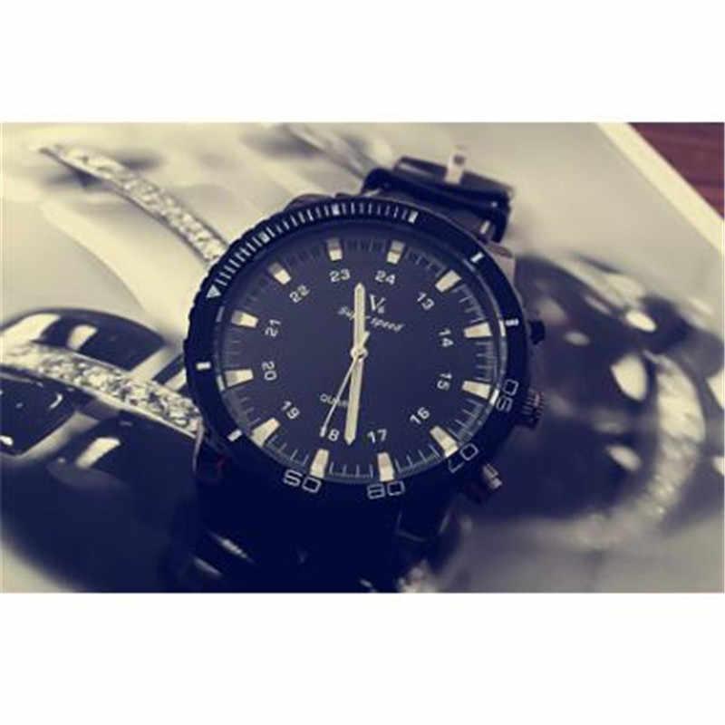 V6 スーパースピードのためのメンズ · レディースビッグニュートラル腕時計時計erkek kol saatiフルスチールウォッチレロジオmasculinoクリスマスギフト