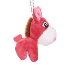 Keychain Pendant Plush-Toy Cute Backpack-Decoration Donkey Car Christmas-Gift Creative