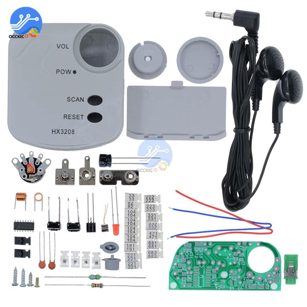 HX3208 FM Micro SMD Radio FM Frequency Modulation Radio Electronic Production Training Suite 1.8-3.5V DIY Kits