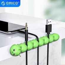 ORICO органайзер для кабеля управление сматыванием для мобильный телефон кабель для наушников USB зарядка мышь держатель провода сматыватель кабеля гусеница