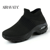Black2-Women's walking shoes Fashion Casual Sport Shoes Platform Sneakers