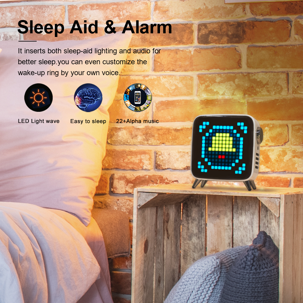 Image 4 - Divoom Tivoo Max Pixel Art Bluetooth Wireless Speaker with 2.1 Audio System 40W Output Heavy Bass App control for IOS & AndroidPortable Speakers   -