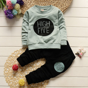 Image 3 - 1 2 3 4 Year Children Clothing Set Long Sleeve Shirts + Pants Kids Clothes for Boys Spring Fall Girls Suits Baby Toddler Costume