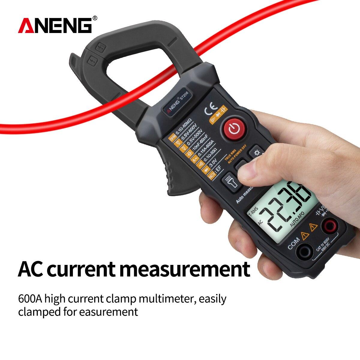 Image 4 - ANENG ST208 Digital Clamp Meter Multimeter Car 6000 counts AC/DC Current Measure Transistor Tester Voltimetro AmperimetroMultimeters   -