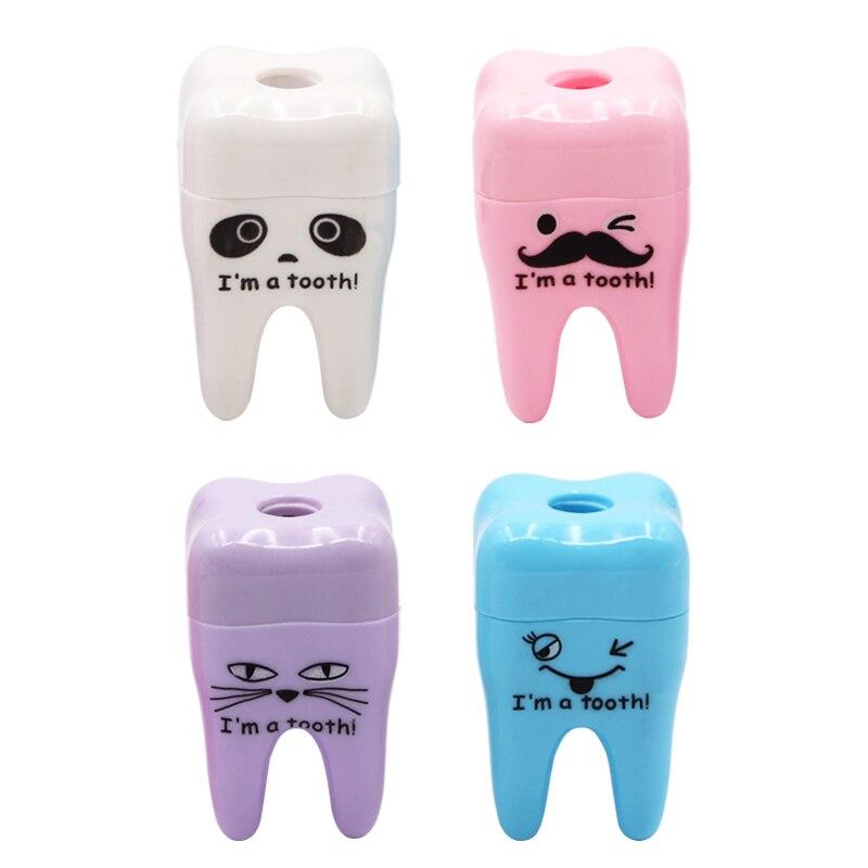 2pcs/5pcs Dental Teeth Shape Gift Cute Tooth Plastic Pencil Sharpener Lovely Dentist Children Gift